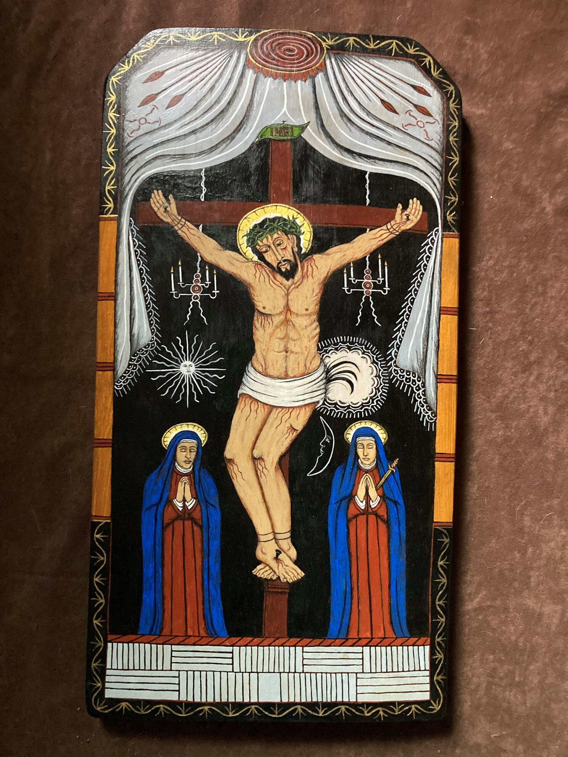 """""""Cristo Crucificado"""" by Peter E. Lopez"""