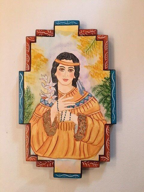 """Saint Tekakwitha Catherine"" by Frank Garcia"