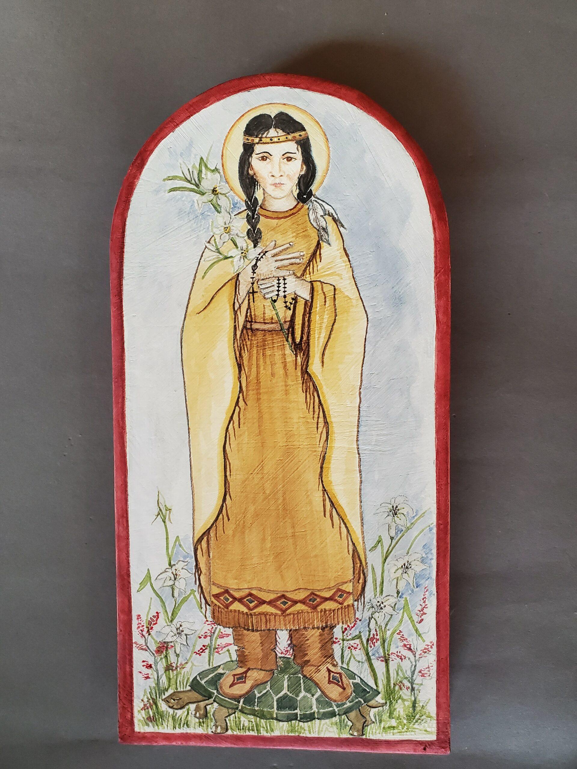 """Saint Tekakwitha"" by Jean Anaya Moya"
